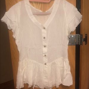 short sleeve ruffle shirt